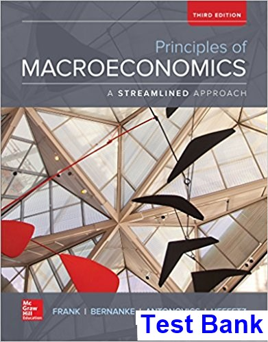Principles of Macroeconomics Brief Edition 3rd Edition Frank Test Bank