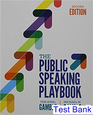 Public Speaking Playbook 2nd Edition Gamble Test Bank