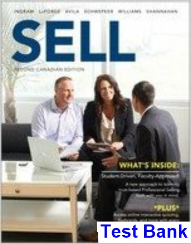 SELL Canadian 2nd Edition Ingram Test Bank