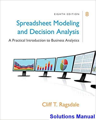 spreadsheet modeling and decision analysis Spreadsheet modeling and decision analysis, 8e's updates work seamlessly with microsoft office excel 2016 succinct instruction highlights the most commonly used business analytics techniques and clearly demonstrates how to implement these tools with the most current version of excel for windows.