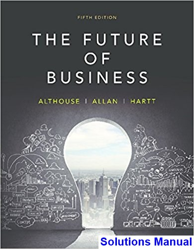 Future of Business Canadian 5th Edition Althouse Solutions Manual