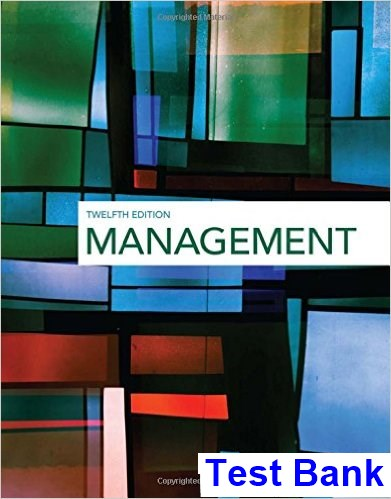 Management 12th Edition Griffin Test Bank