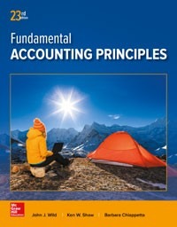 Test Bank for Fundamental Accounting Principles 23rd Edition By Wild