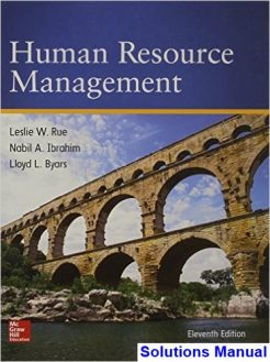 Human Resource Management 11th Edition Rue Solutions Manual
