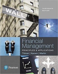 Test Bank for Financial Management: Principles and Applications 13th Edition