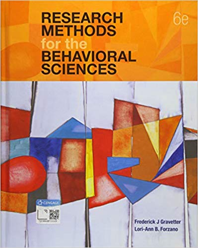 Solution Manual for Research Methods for the Behavioral Sciences 6th Edition