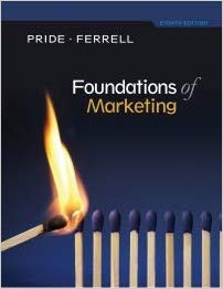 Test Bank for Foundations of Marketing 8th Edition