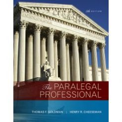 Test Bank for The Paralegal Professional 5th Edition by Goldman