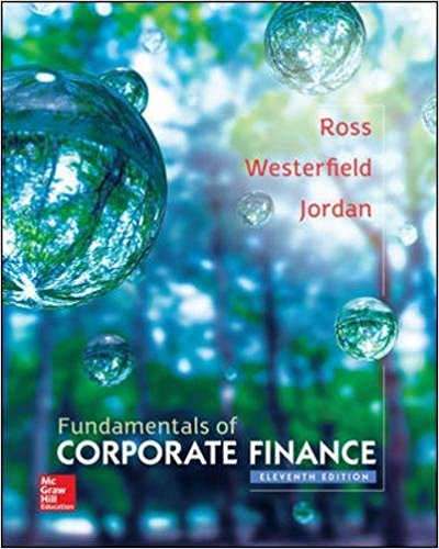 Fundamentals of Corporate Finance 11th Edition Ross- Testbank