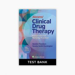 Abrams' Clinical Drug Therapy: Rationales for Nursing Practice 11th Edition