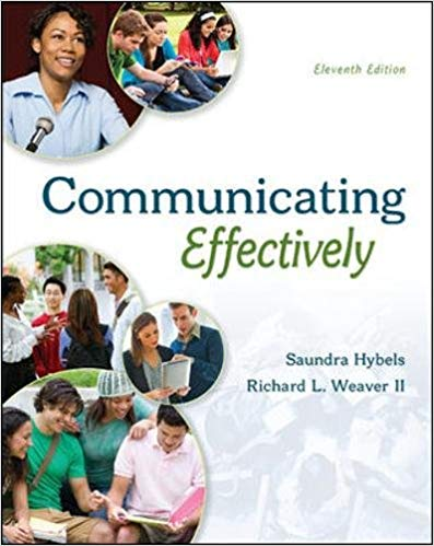 Test Bank for COMMUNICATING EFFECTIVELY 11th Edition