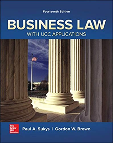 Test Bank for Business Law with UCC Applications 14th Edition