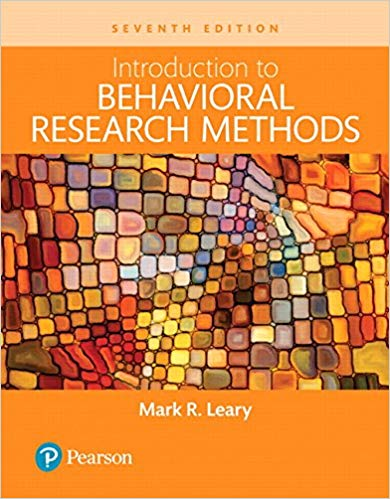 Test Bank for Introduction to Behavioral Research Methods 7th Edition