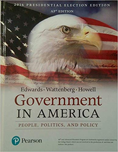 Test Bank for Government in America 17th Edition