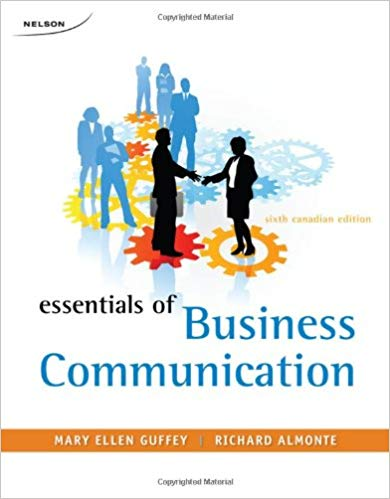 Test Bank for Essentials of Business Communication (Canadian Edition) 6th Edition
