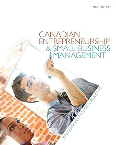Test Bank for Canadian Entrepreneurship and Small Business Management 9th Edition