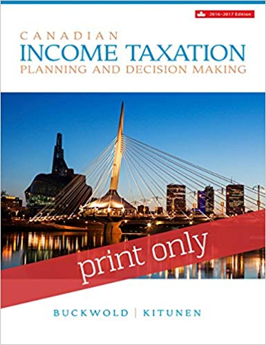 Test Bank for Canadian Income Taxation 2016/2017 Edition