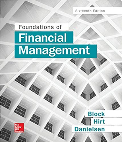 Test Bank for Foundations of Financial Management 16th Edition