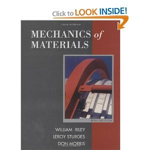Solution manual for Mechanics of Materials Riley Sturges Morris 6th edition