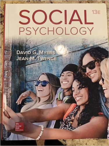 Test Bank for Social Psychology 13th Edition