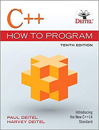 Test Bank for C++ How to Program 10th by Deitel