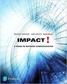 Solution Manual for Impact A Guide to Business Communication 9th by Northey