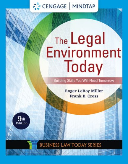 Test Bank for The Legal Environment Today 9th by Miller