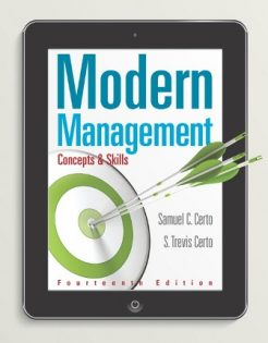 Test Bank for Modern Management: Concepts and Skills, 14th Edition, Samuel C. Certo, S. Trevis Certo, ISBN-10: 0133859819, ISBN-13: 9780133859812