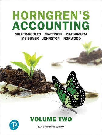 Test Bank for Horngren's Accounting, Volume 2 11th Canadian Edition Nobles ISBN-10: 0134790103, ISBN-13: 9780134790107