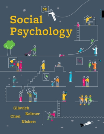 Test Bank for Social Psychology, 5th Edition, Tom Gilovich, ISBN: 9780393667691