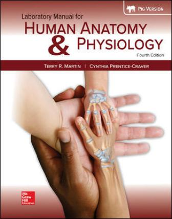Solution Manual for Human Anatomy & Physiology Fetal Pig Version, 4th Edition, Terry Martin, Cynthia Prentice-Craver, ISBN10: 1260159361, ISBN13: 9781260159363