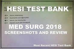 Hesi Med Surg RN 2018 Most Recent - Updated