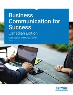 Business Communication for Success Version 1 0 1st Canadian McLean Solution Manual