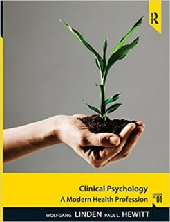 Clinical Psychology A Modern Health Profession 1st Linden Solution Manual