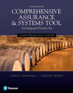 Solution Manual for Computerized Practice Set for Comprehensive Assurance & Systems Tool (CAST), 4th Edition, Laura R. Ingraham, J. Greg Jenkins, ISBN-10: 0134790642, ISBN-13: 9780134790640
