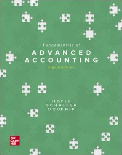 Solution Manual for Fundamentals of Advanced Accounting, 8th Edition, Joe Ben Hoyle, Thomas Schaefer, Timothy Doupnik, ISBN10: 126024783X, ISBN13: 9781260247831