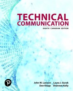 Test Bank for Technical Communication, 8th Canadian Edition, John M. Lannon, Laura J. Gurak, Don Klepp, Shannon Kelly, ISBN-10: 0135420156, ISBN-13: 9780135420157
