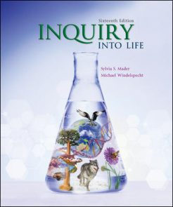 Solution Manual for Inquiry into Life, 16th Edition, Sylvia Mader, Michael Windelspecht, ISBN10: 1260231704, ISBN13: 9781260231700